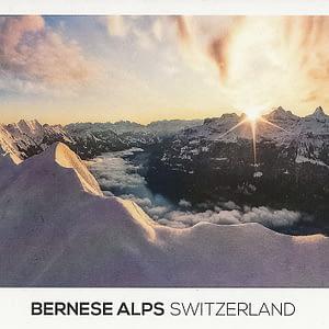 A winter sunrise on the Brienzergrat in the alps of Switzerland