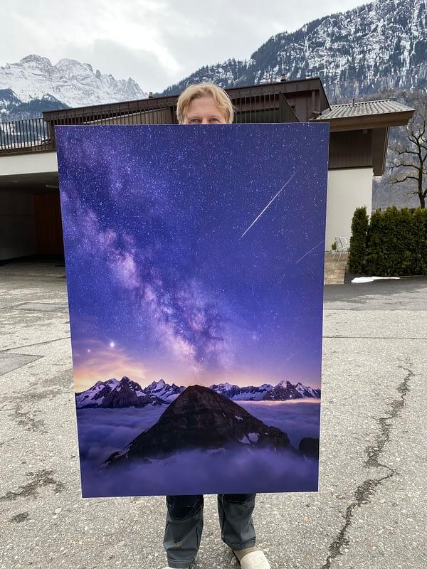 Milky way Aluminum print