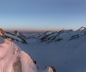 Pennine alps jungfraujoch panorama