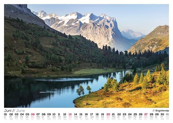 Wandkalender 2021 - Berner Alpen 2021 -Paedii Luchs