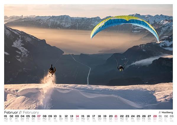 Calendar 2021 - Bernese Alps 2021 -Paedii Luchs