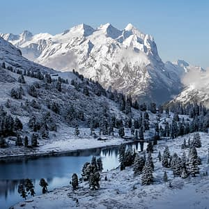 Landscape photography winter switzerland bernese alps by paedii luchs