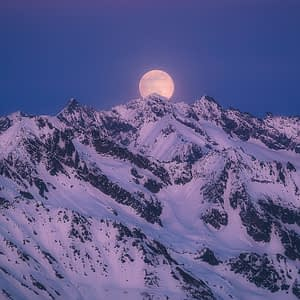 full moon landscape photography switzerland