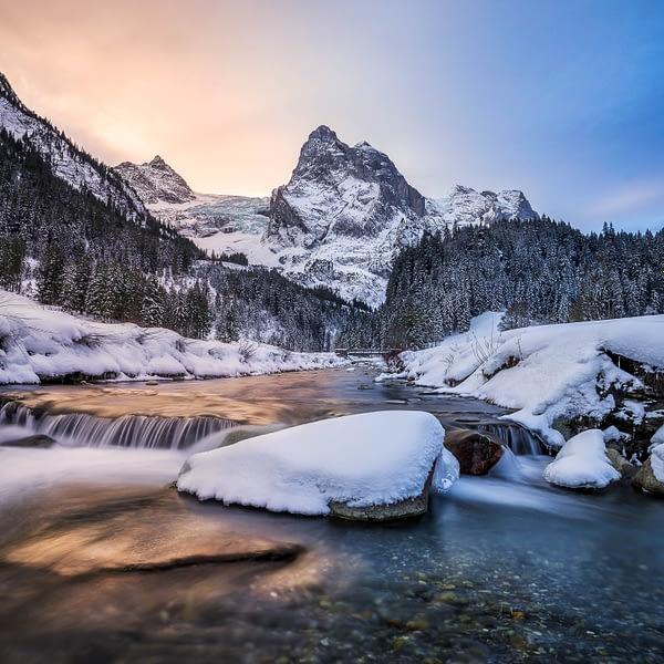 Landscape photography winter snow switzerland bernese alps by paedii luchs