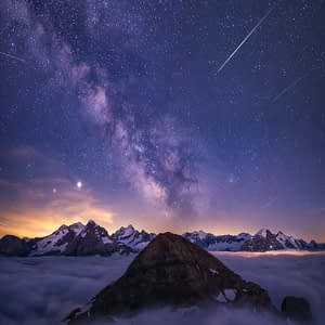 milky way night landscape photography switzerland by paedii luchs