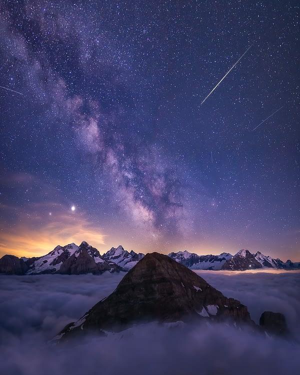 milky way night landscape photography switzerland by paedii luchs